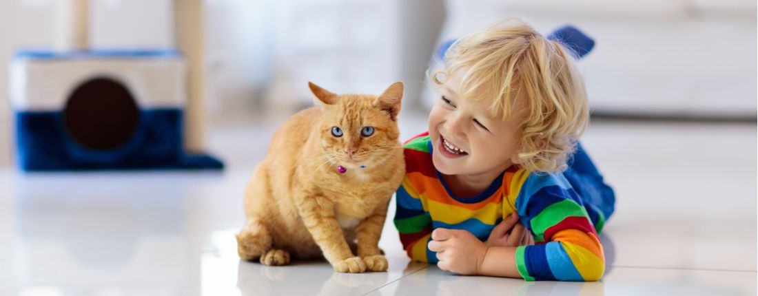Setting boundaries with children can help them adjust to the role of caring for a pet.