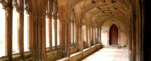 The halls of Hogwarts School for Witchcraft and Wizardry