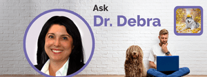 Dr. Debra and a pet owners concerned about their Husky.
